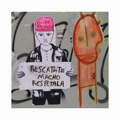 Guille Pachelo, miembro de BA Paste Up, un movimiento artístico que interviene en la vía pública mediante la técnica de pegatinas creando collages y murales colectivos.