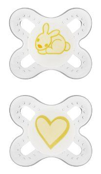 "Amazon.com: MAM Silicone Start Pacifier, White, 2-Count: Baby  ""As mentioned earlier today, we've tried nearly every pacifier on the market and MAM's are by far Margaux's favorite. The newborn size seems to be a perfect fit for her and these have been a lifesaver to create a diversion from comfort nursing!"""