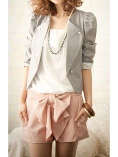 Puff Sleeved Collarless Blazer