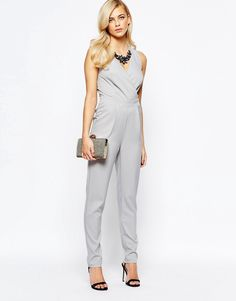 Little+Mistress+Wrap+Front+Embellished+Necklace+Jumpsuit