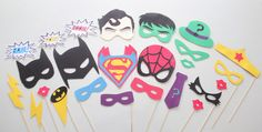 Superhero Party Photo Booth