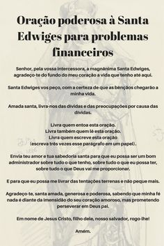 Oração poderosa à Santa Edwiges para problemas financeiros