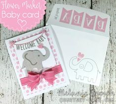 Hello, friends!   Today, I have a baby card that I made for a co-worker using the Flower Market cartridge . My co-workers don't really k...