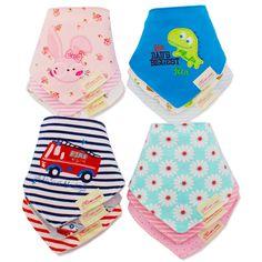 3 개/몫 코튼 아기 소년 소녀 만화 수건 아기 두건 앞치마 신생아 아기 턱받이 유아 타액 수건 유아 의류