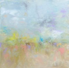 Abstract Landscape 'Storm in a Teacup'  by SallyKellyPaintings, $90.00