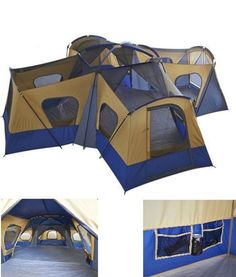 Camping Instant Tent 14 Person 20 x 20 Base Camp Family Cabin Canopy Large Blue … - Sports Luxury Camping Tents, Best Tents For Camping, Cool Tents, Camping Guide, Camping Glamping, Camping World, Outdoor Camping, Camping Ideas, Camping Chairs