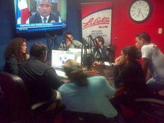 En estos momentos con jóvenes de distintas organizaciones juveniles hablando de la Ley de juventud en 95.3fmLaExitosa