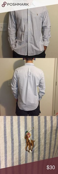 Authentic Polo button down Worn and washed once. PERFECT condition Polo by Ralph Lauren Shirts Casual Button Down Shirts