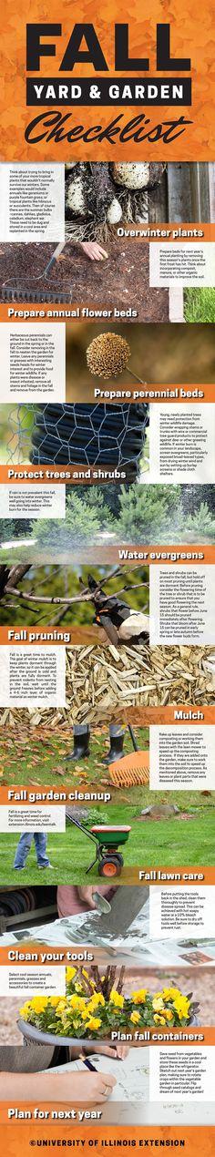 Your fall yard & garden checklist - get to work!