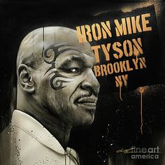 Mike Tyson Painting - Iron Mike by Christian Chapman Art