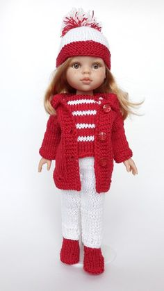 Ag Doll Clothes, Crochet Doll Clothes, Clothes Crafts, Knitted Dolls, Doll Clothes Patterns, American Girl Outfits, Girl Dolls, Baby Dolls, Sasha Doll