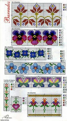 Borders - Good for bead weaving with delica beads