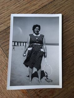 Vintage Photograph, Tennis at the Beach, 016 Vintage Photographs, Vintage Photos, Vintage Prints, 1940s, Tennis, Box, Beach, Etsy, Snare Drum
