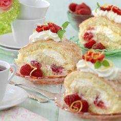 Rulltårta med lemoncurd