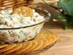 Simple crab salad is great as an appetizer served with crackers.