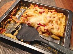 Schupfnudel - Geschnetzeltes Auflauf mit Putenfleisch und Paprika . 45 Min.
