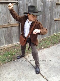 Indiana Jones Costume for 9-Year-Old Boy... 2014 Halloween Costume Contest