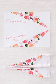 How adorable is this wedding invitation? For when the post office is not cooperating!