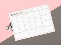 Planificador semanal A4 imprimible para descargar | Chevron rosa | Español de Inkcolora en Etsy
