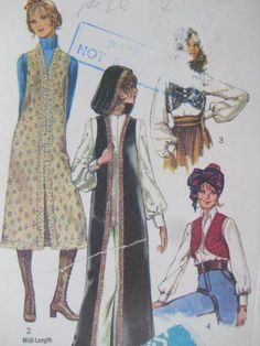 See Sally Sew-Patterns For Less - Retro Vest Vests Vintage 1970 Simplicity 9126 Pattern Sz. 14, $9.99 (http://stores.seesallysew.com/retro-vest-vests-vintage-1970-simplicity-9126-pattern-sz-14/)