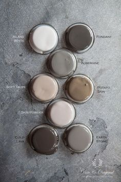 Pure original interior paint - the most beautiful colour palette.