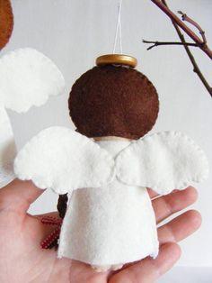 Felt PDF sewing pattern Felt angels. Christmas tree