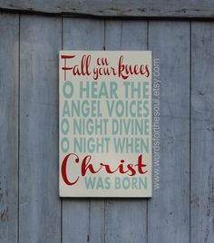 Fall on Your Knees  O Holy Night  Oh Holy Night by WordsForTheSoul