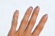 Silver Band Knuckle Rings Set Wire Wrapped by theELEPHANTpink, $11.50