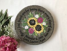 Parents of the Bride Gift, Mother of the Bride Gift, Mother Wedding Gifts, Wedding Garden Stone, Wild Flowers Garden Stone by on Etsy Retirement Gifts For Women, Wedding Gifts For Parents, Mother Of The Groom Gifts, Mother Gifts, Mother Of The Bride, Our Wedding Day, Mothers, Garden Stones, Bride Gifts