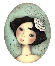 """""""Do You Ever Wonder?"""" - by Leanne Ellis, ~  Gouache & Pencil"""