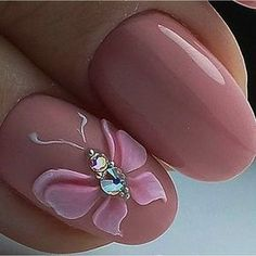Heat Up Your Life with Some Stunning Summer Nail Art 3d Nail Art, 3d Acrylic Nails, 3d Nails, Pink Nails, Cute Nails, Pastel Nails, Butterfly Nail Designs, 3d Nail Designs, Butterfly Nail Art