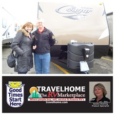 Congratulations to Steve & Karen on the purchase of their Cougar 29RKS #traveltrailer from Sandra! #cougarrv #Travel #travelhome #camping #rving #Vacation