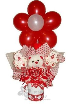 1000 images about balloon valentine figures decorations for Balloon decoration for valentines day