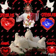 See the PicMix JESUS belonging to giurgead on PicMix. Images Du Christ, Pictures Of Christ, Valentines Gif, Image Jesus, Zendaya Style, Angel Wallpaper, Jesus Painting, Divine Mercy, Holy Mary