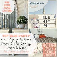 DIY Projects-crafts-sewing- at blissfullyeverafter.net