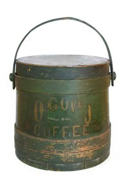 Old Painted Coffee Firkin...