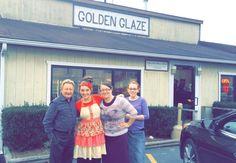 Aaron Wilburn at Golden Glaze Donut shop Madisonville,Ky