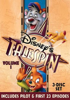 @Overstock - Baloo from THE JUNGLE BOOK gets his own spin-off show in TALESPIN. Baloo and his friend Kit Cloudkicker fly across the world working for a cargo company, and as they enjoy some hair-raising adventures...http://www.overstock.com/Books-Movies-Music-Games/Talespin-Volume-1-DVD/2003910/product.html?CID=214117 $14.84
