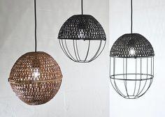 Ljung y Ljung, bambú luces, diseño Scadinavian, bambú, artesanía de bambú tailandesa, Sop Moei Artes