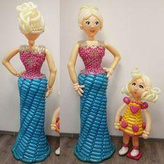 Мама и доча, модницы и красавицы, фигура из воздушных шаров по фотографии, индивидуальный заказ. Только у нас Вы можете заказать любую фигуру из воздушных шаров по своей фотографии!!!