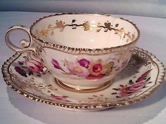Coalport tea cup and saucer c1830 by kasey