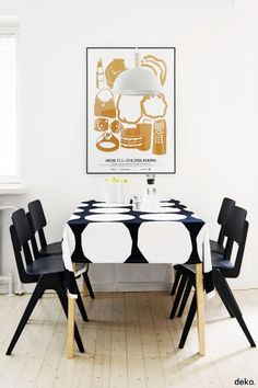 12 Dining Rooms Where You'd Never Miss a Family Dinner: Marimekko.
