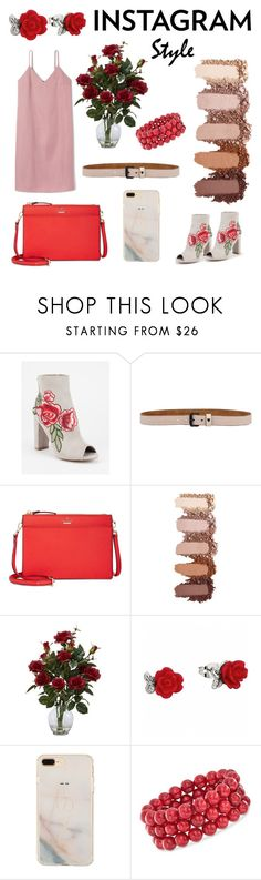 """""""Rosebush Roamers"""" by gloeser ❤ liked on Polyvore featuring Wild Diva, HTC, Kate Spade, Nearly Natural, Ross-Simons, 60secondstyle and PVShareYourStyle"""