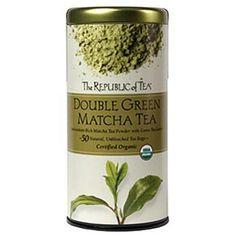 The Republic Of Tea Double Green Matcha, 50 Tea Bags, Gourmet Blend Of Organic Green Tea And Matcha Powder