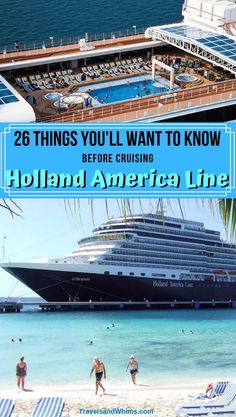 Cruising season is here!  If you are cruising Holland America, here are a few things you'll want to know before you set sail.  Bon Voyage! #Cruise #Travel #HollandAmerica #HAL #Cruisetips