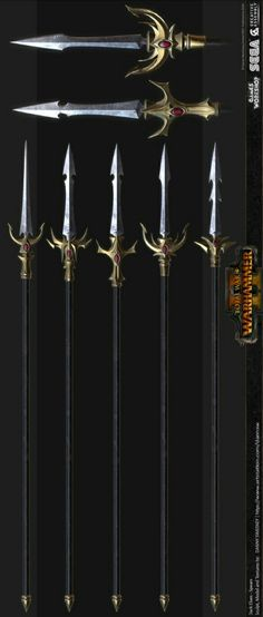Spear Weapon, Weapon Concept Art, Fantasy Weapons, Swords, Magic, Knives, Rpg, Soldiers, Character Design