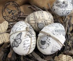 Oeufs de Pâques... Crafty Craft, Crafting, Concrete Crafts, Rustic Crafts, Diy Easter Decorations, Idee Diy, Dollar Tree Crafts, Egg Art, Easter Holidays