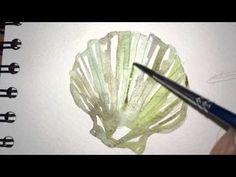 Seashells - Watercolor painting (easy) - YouTube