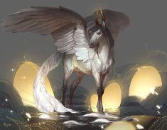Matheo by AlsaresLynx on DeviantArt Mystical Animals, Mythical Creatures Art, Mythological Creatures, Horse Drawings, Animal Drawings, Wolf Drawings, Fantasy Beasts, Fantasy Art, Horse Artwork