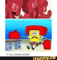 stevenuniverse, ruby, spongebob